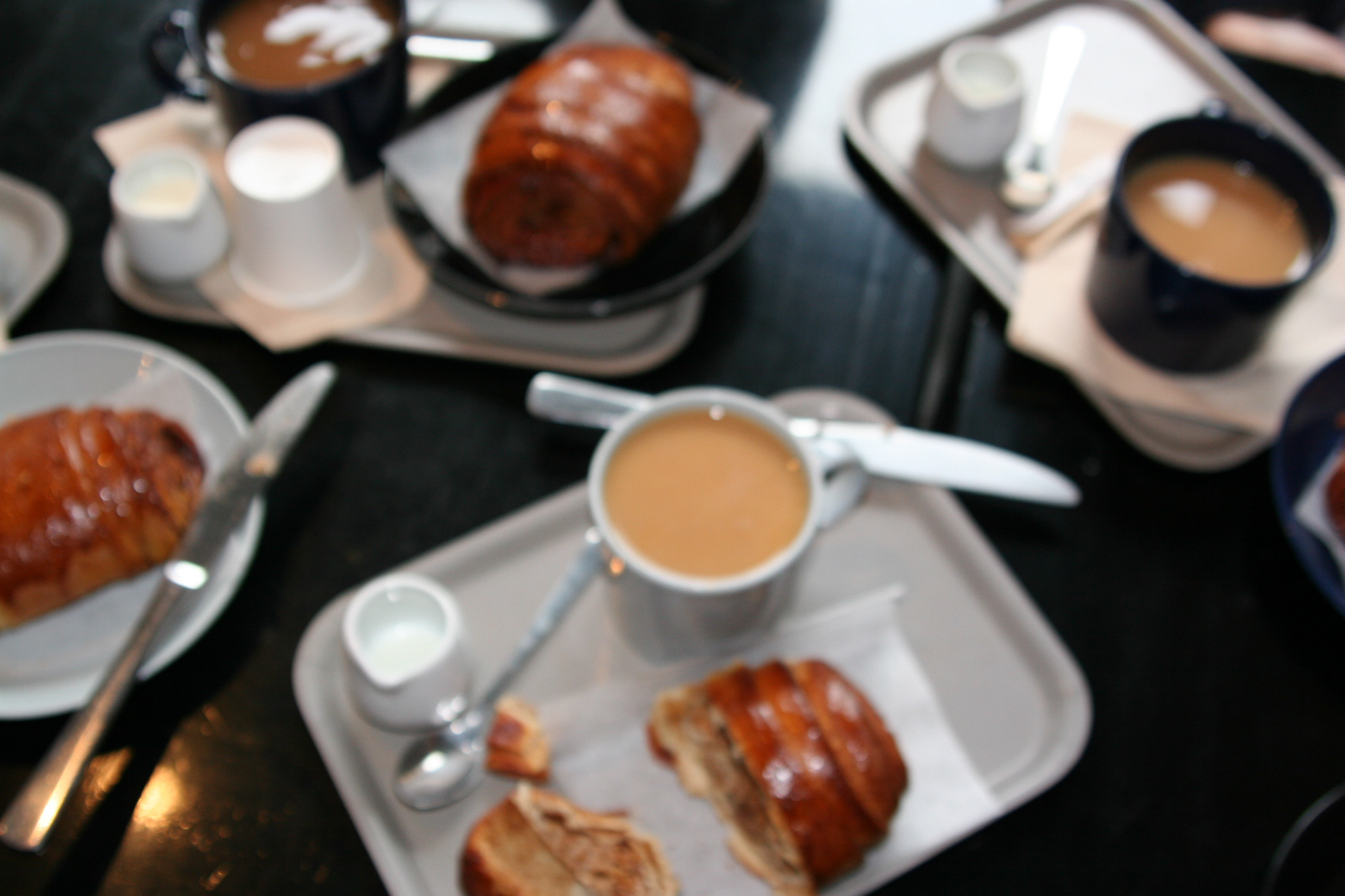 [cinnamon buns and coffee - with auto-focus turned off!]